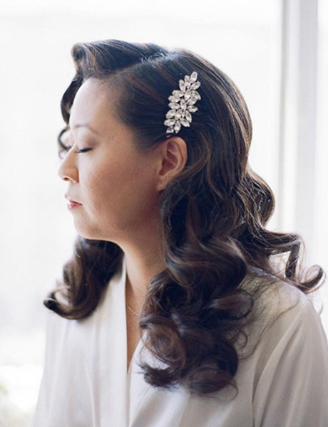 Glamour Waves for Beautiful Asian Bride Priscilla