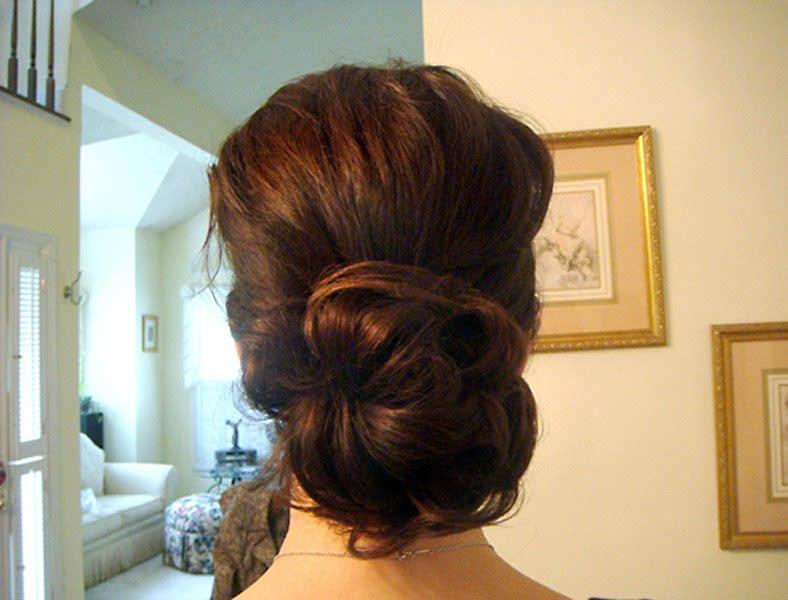 Elegant Chignon For Weddings