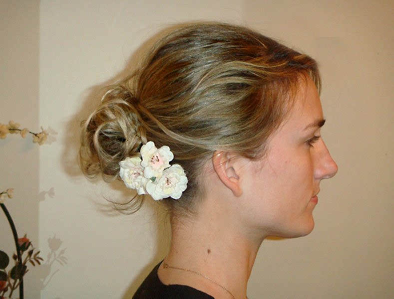 Simple Chignon for Weddings