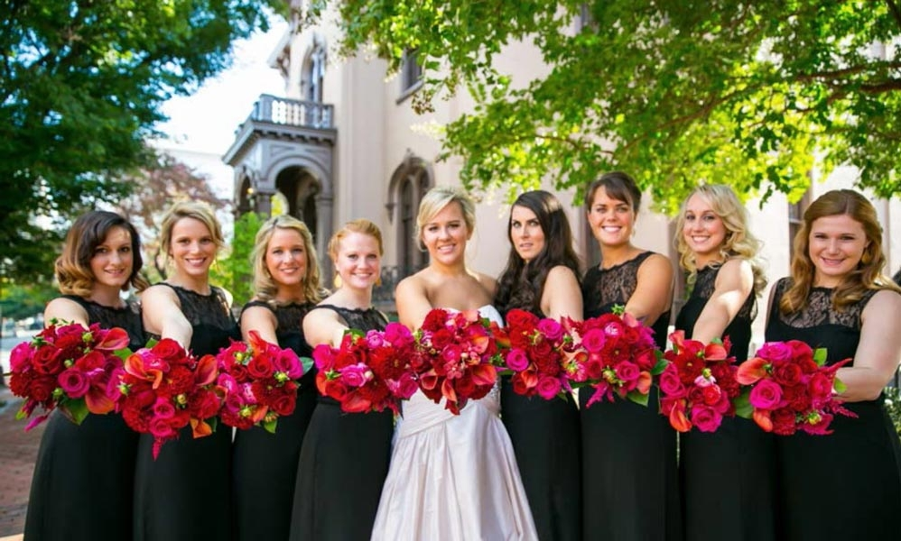Beautiful Bridal Party Hair and Makeup in VA