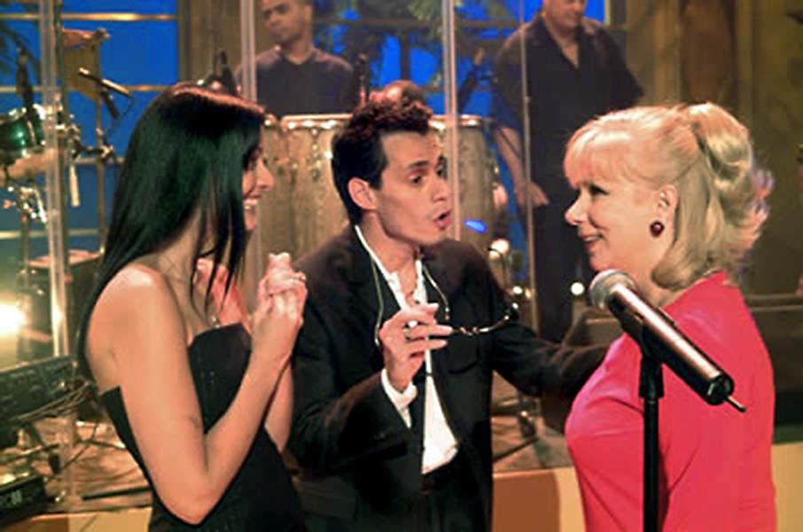 Marc Anthony & Dayanara Torres at Cristina