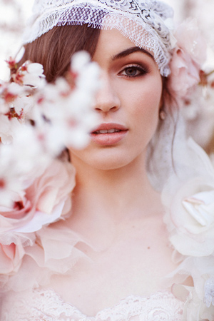 Bridal  Cherry Blossom Makeup