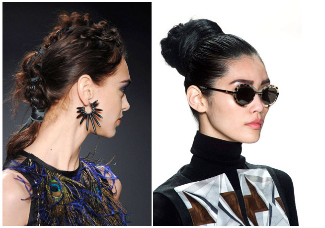 Nicole Miller - Carolina Herrera Hairstyles Fall 2014