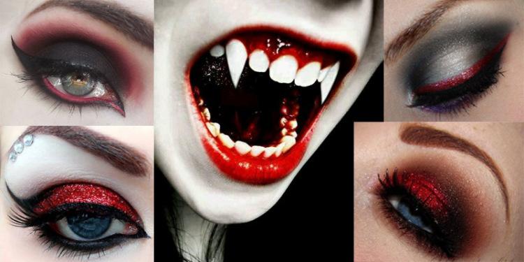 Vampire Eye Makeup. - Images form: Pinterest.com